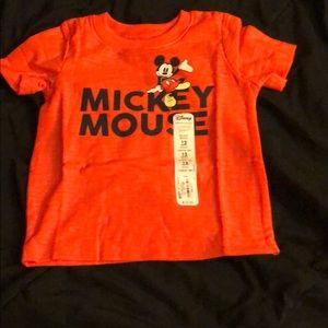 Disney Mickey Mouse Orange Tee Shirt, size 12 mos